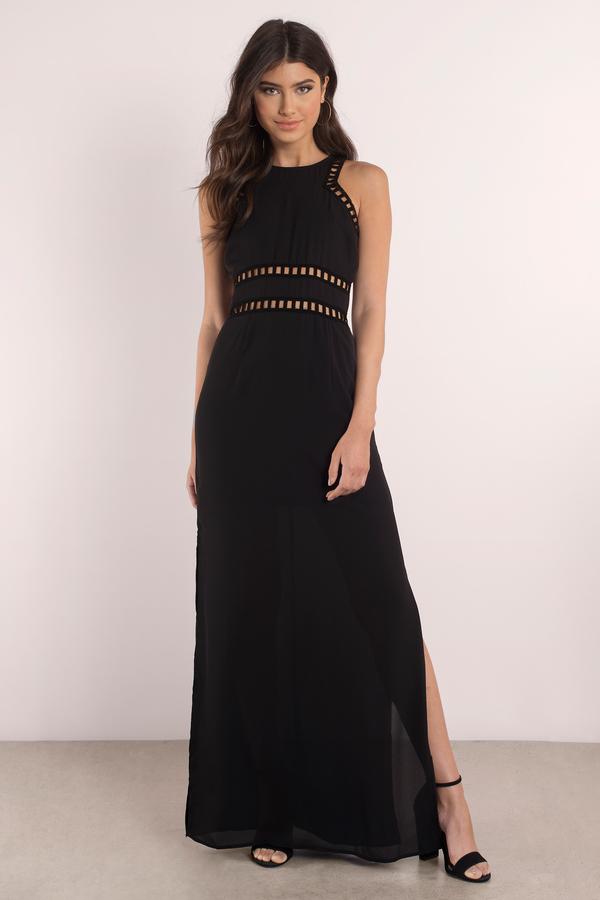 MARGOT BLACK MAXI DRESS