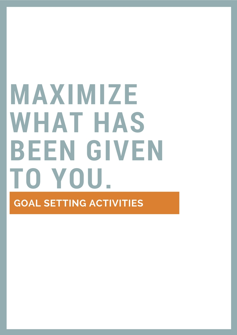 You need to set your goals. Stop being lazy! I know it is not easy. This is why I created this worksheet to help you.