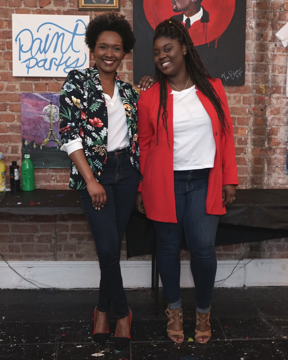 Photo Credit: Andee Maher |    @violetspring    Tequilla White and Martine Cadet at the Pizza and Prosecco Hosted by    NonCorporate Girls