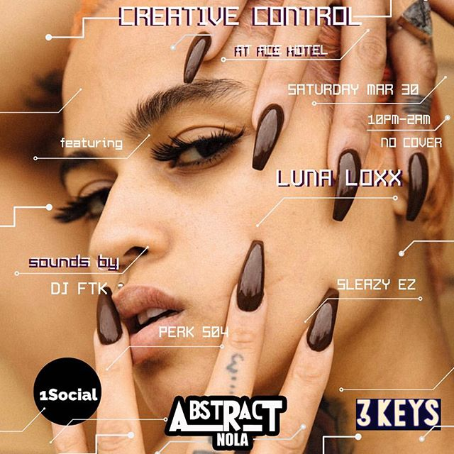 TONIGHT we're vibing out with a few of my favorite artists at 3 Keys.  No cover charge, just good feels. Show starts at 10p. Tell a friend✨  See you there! #AbstractNola #1Social #Peace2TheCreators