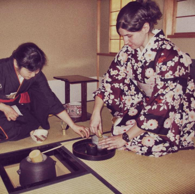 Me at a Tea Ceremony in Kyoto, Japan