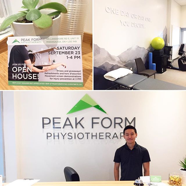 Physiotherapy has so many benefits and considered a key treatment in rehabilitation, but it's also important to work with someone who knows their stuff and cares about you and your physio journey.  I wanted to take a moment to mention David at @peakformphysio He is so kind, passionate and knowledgeable about his work! He has helped both myself and family recover through some tough injuries.  Peak Form offers physiotherapy, massage, acupuncture, sports injuries, pre/post operative rehabilitation to name a few.  If you live in the GTA, definitely check them out. You won't regret it! Peak Form is holding an open house this weekend, be sure to stop by for some treats and meet the team!  Thank you David for being so awesome!  Open House: Saturday September 23, 1-4pm.  515 Lakeshore Rd. Unit 111, Mississauga, Ontario.  #physio #toronto #missisauga #wellness #healthy #healthyliving #rehab #physiotherapist #etobicoke #portcredit #excerise #yoga #fitness #massage #sportsphysio #instagood #health #injury #recovery #happy