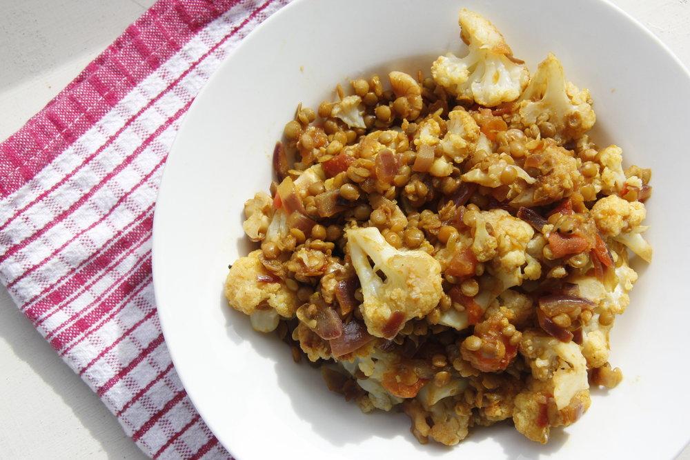 cauliflower and lentil