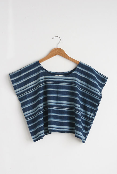 Mira Blackman Striped Box Top $110