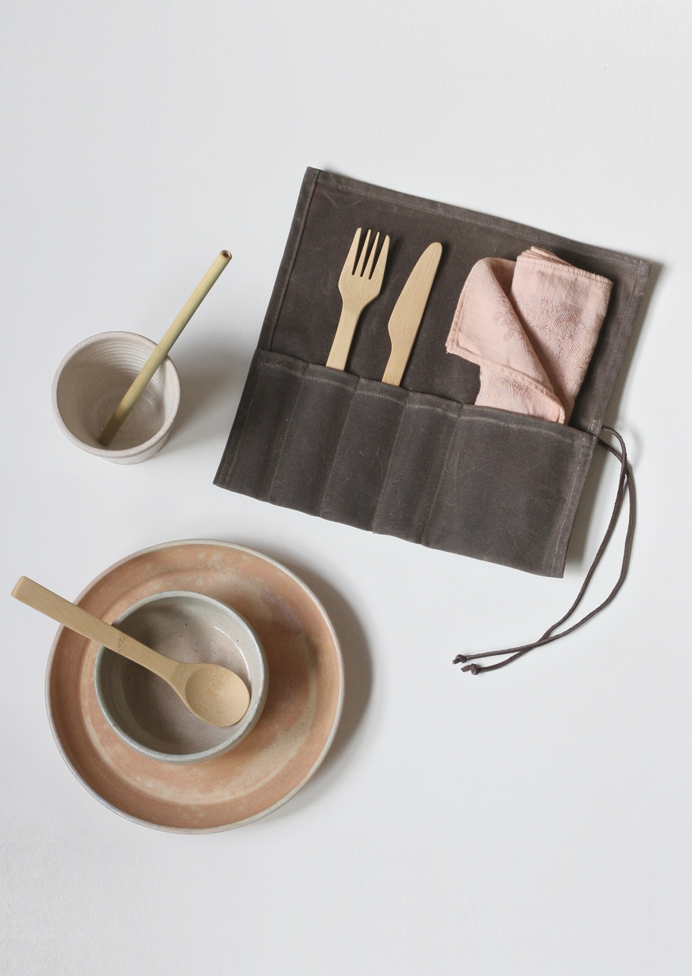 Waxed Canvas Lunch Set $60