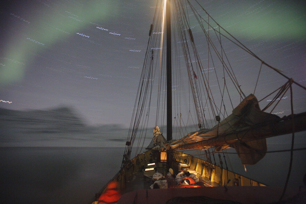 Noorderlicht pictured under northern lights