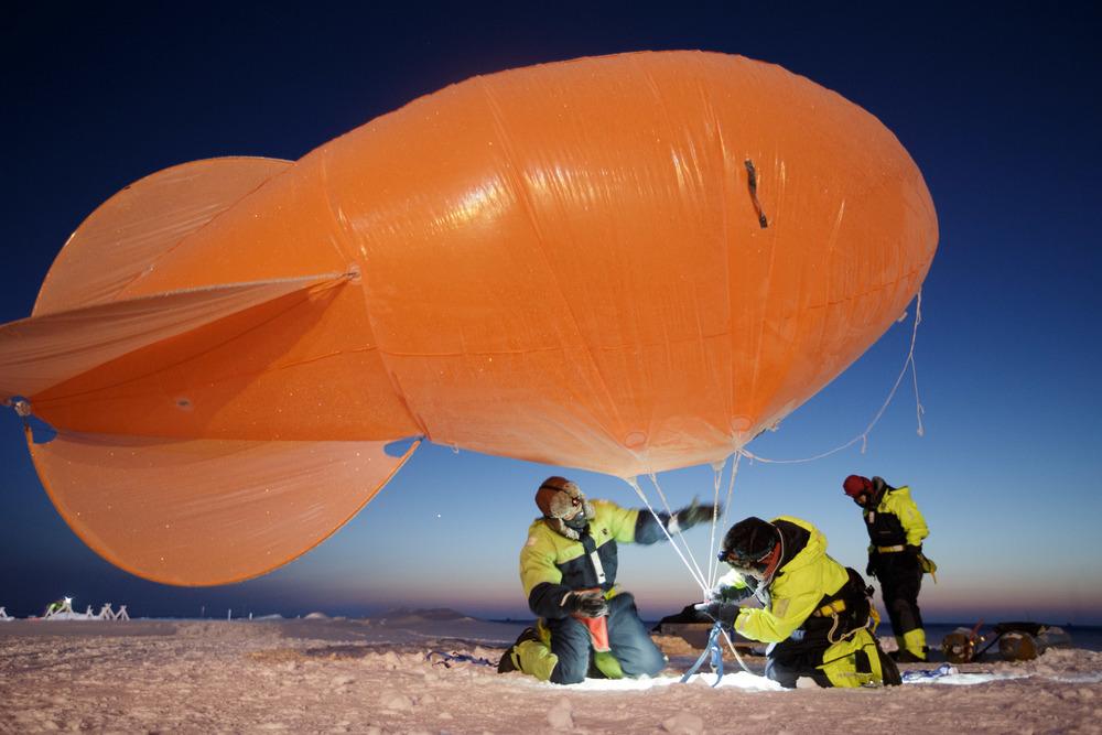 Arctic weather balloon