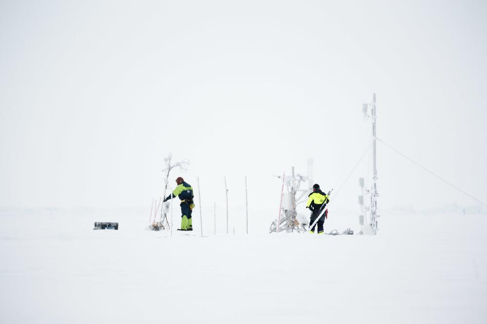 Frozen atmospheric instruments