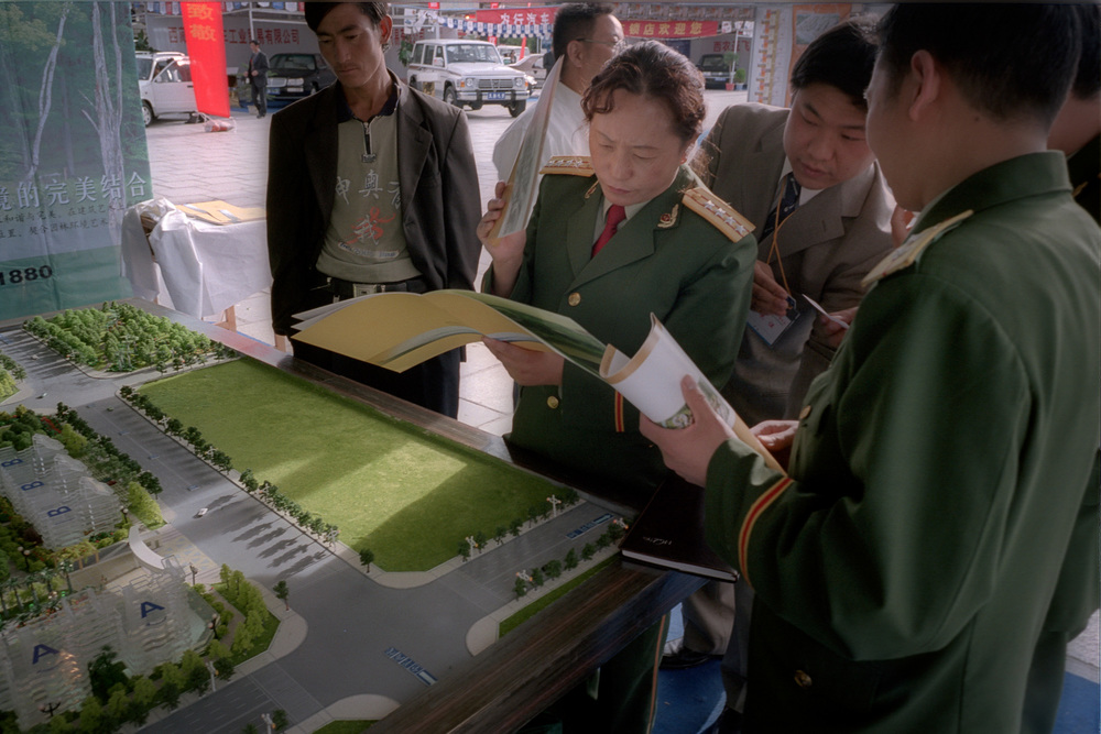 Plans for luxury flats at a trade fair in Potala Square
