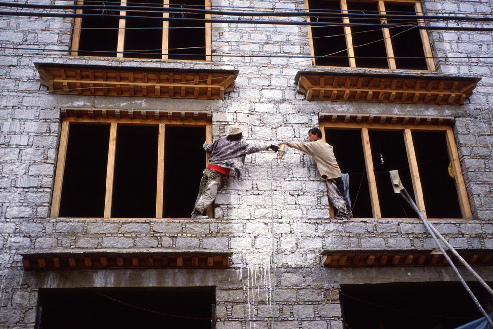 Construction work Lhasa