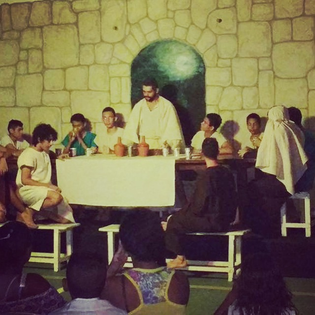 The Passion play in Lagoa de Itaenga