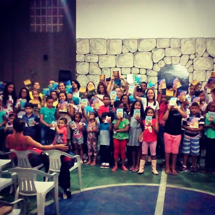 And each child received a Bible for Christmas!