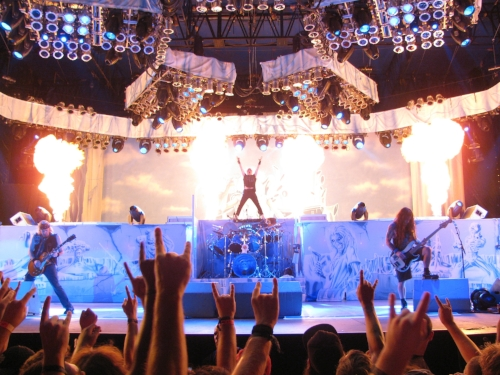 Iron Maiden at Ottawa Bluesfest in 2012.  ceedub13/flickr ,  CC BY
