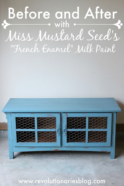 "Before and After with Miss Mustard Seed's ""French Enamel"" Milk Paint"