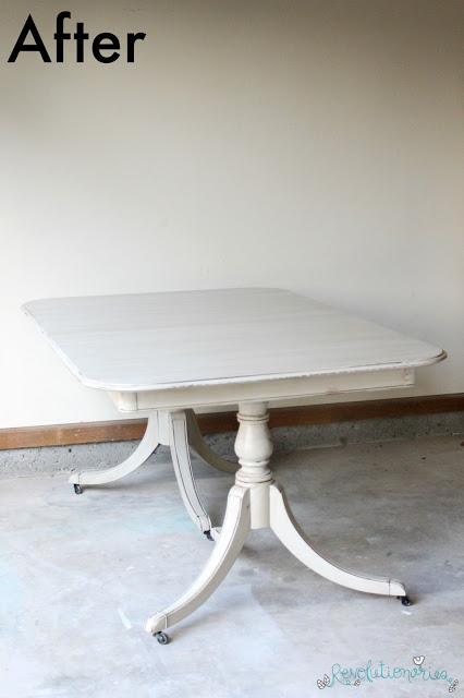 Before and After: The Seagull Gray Dining Set!