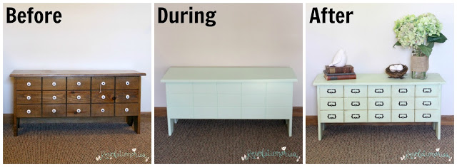 Before and After: The Mint Faux Card Catalog!