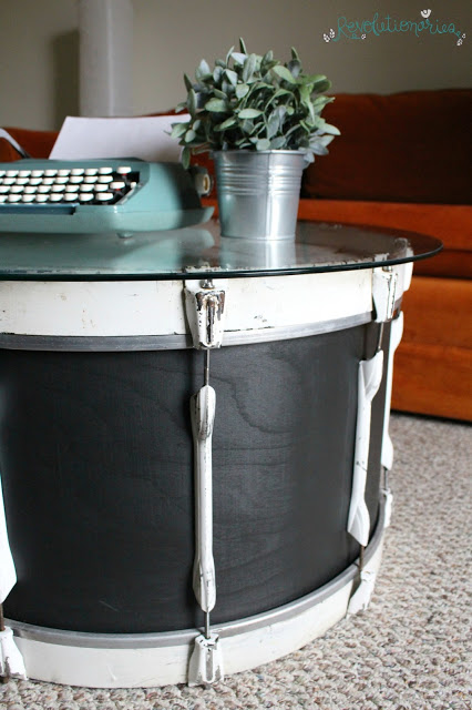 Repurposed Furniture Turn A Bass Drum Into A Coffee Table - Bass coffee table