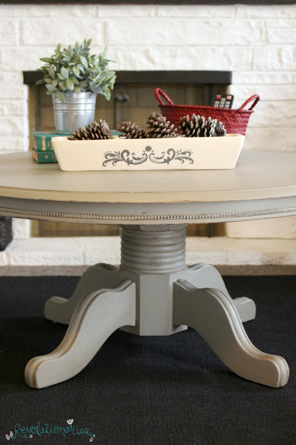 DIY Coffee Table Makeover with General Finishes Chalk Style Paint!