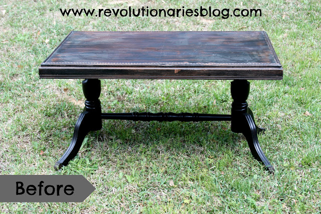 """Before & After: The """"Delicate Lace"""" Antique Coffee Table"""
