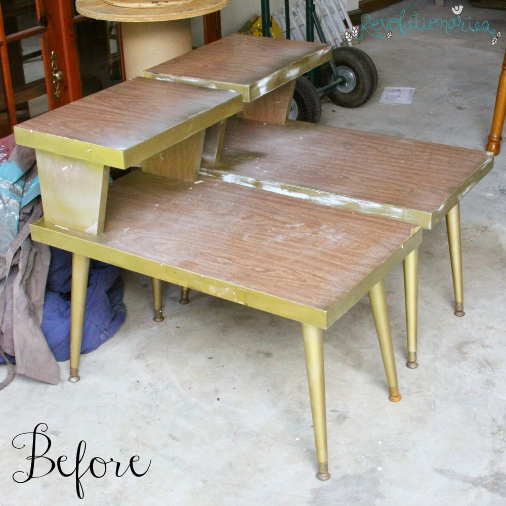 Superieur Before And After: The Retro Side Tables With General Finishes Milk Paint!