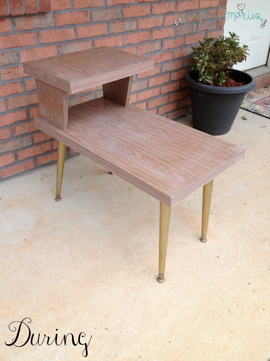 Beau Before And After: The Retro Side Tables With General Finishes Milk Paint!