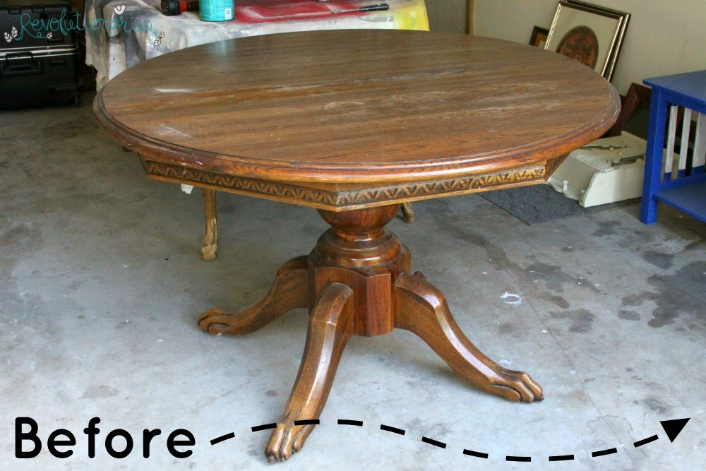 Before And After The Claw Foot Dining Table