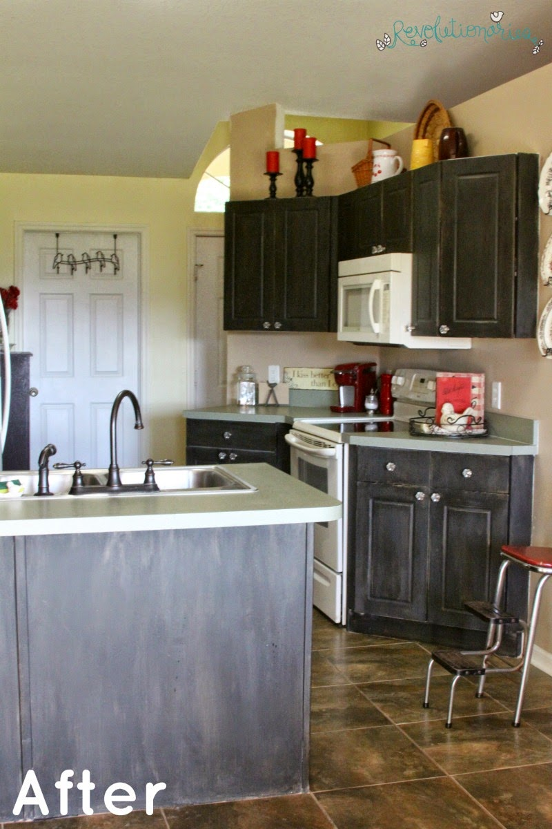 Chalk Paint Kitchen Cabinets: Mom's Kitchen Redo ...