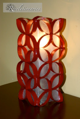 Christmas Candle Redo with Toilet Paper Rolls