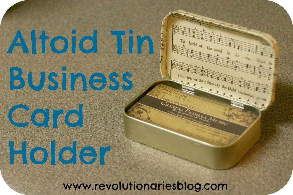 Altoid Tin Business Card Holder — Revolutionaries Market