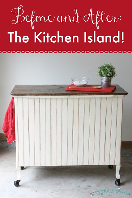 Before and After: The Kitchen Island!