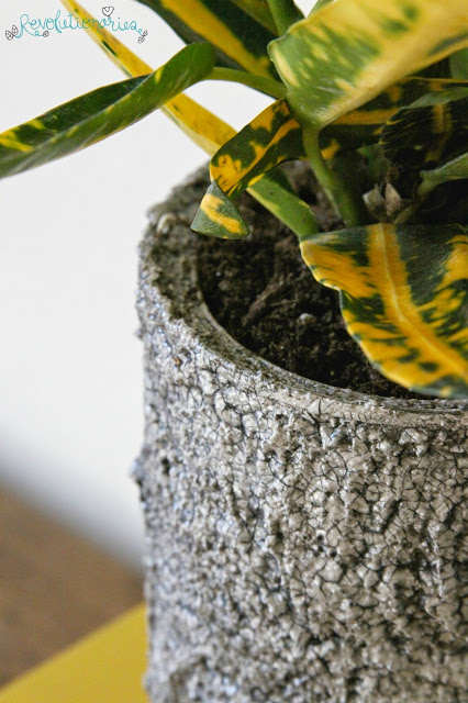DIY Recycled Planter with Paint Couture™ Crust and Crackle!