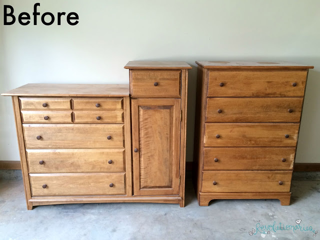Before and After: Antique White Nursery Furniture Set - Before And After: Antique White Nursery Furniture Set