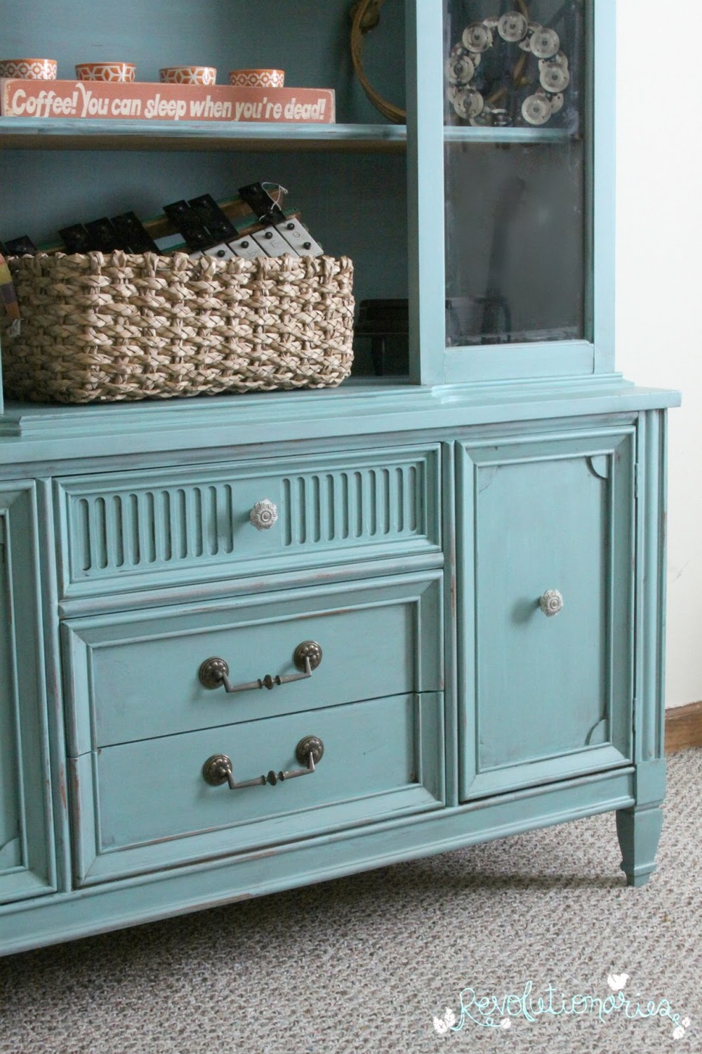 Before And After Repurpose A China Cabinet Into An Entertainment Center Revolutionaries Market