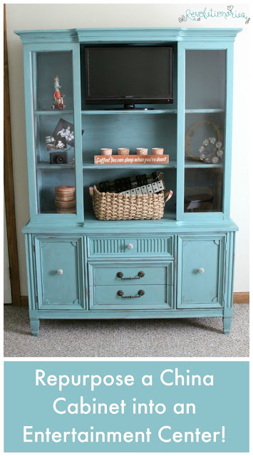Before and After: Repurpose a China Cabinet into an Entertainment Center