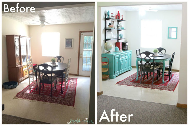 DIY Coffee Bar And Dining Room Makeover