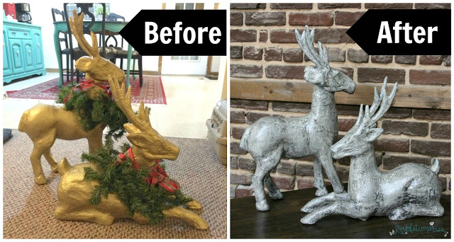 DIY Christmas Decor: Paper Mache Reindeer Makeover!