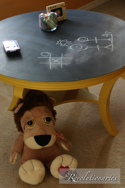 New Project Reveal: Chalkboard Top Coffee Table