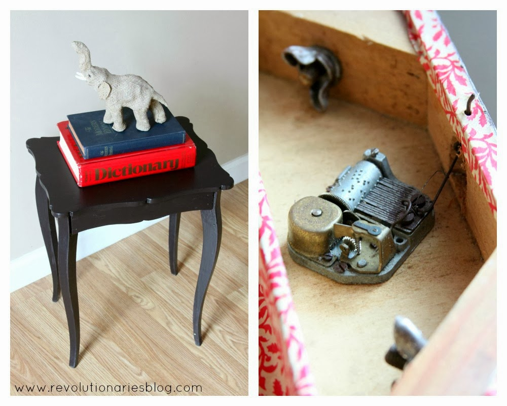 Before and After: Music Box Side Table
