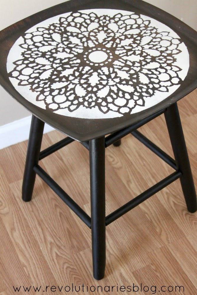 DIY Furniture Projects: Upcycle a Stool into an Awesome Stenciled Table