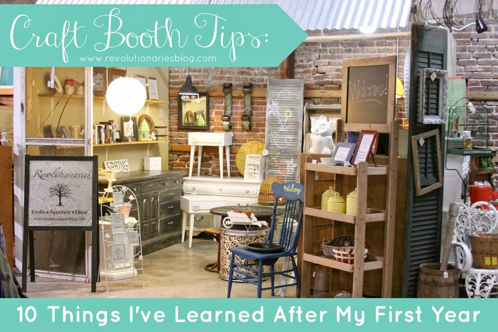 Craft Booth Tips: 10 Things I've Learned After My First Year