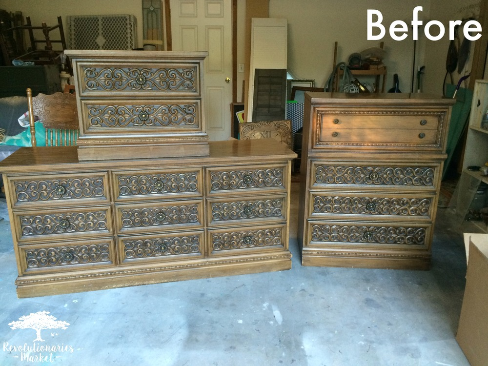 Before and After: Detailed Gray Bedroom Set!