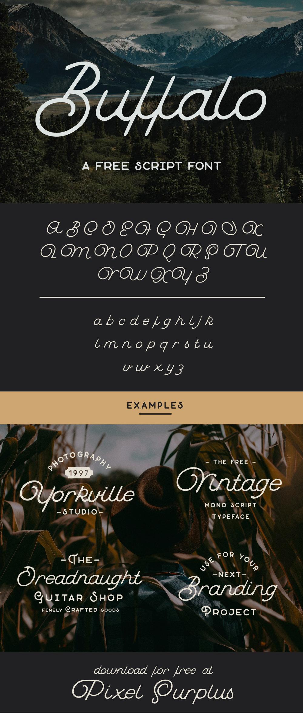 Buffalo-Free-Quirky-Script-Font