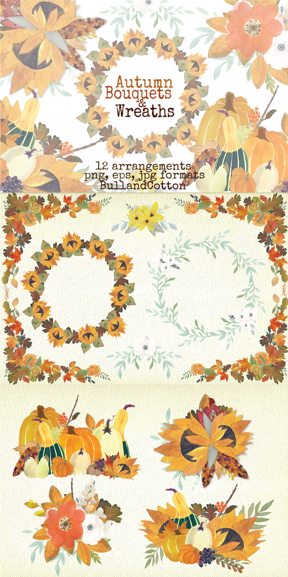 Autumn Bouquet Free Watercolor Illustrations