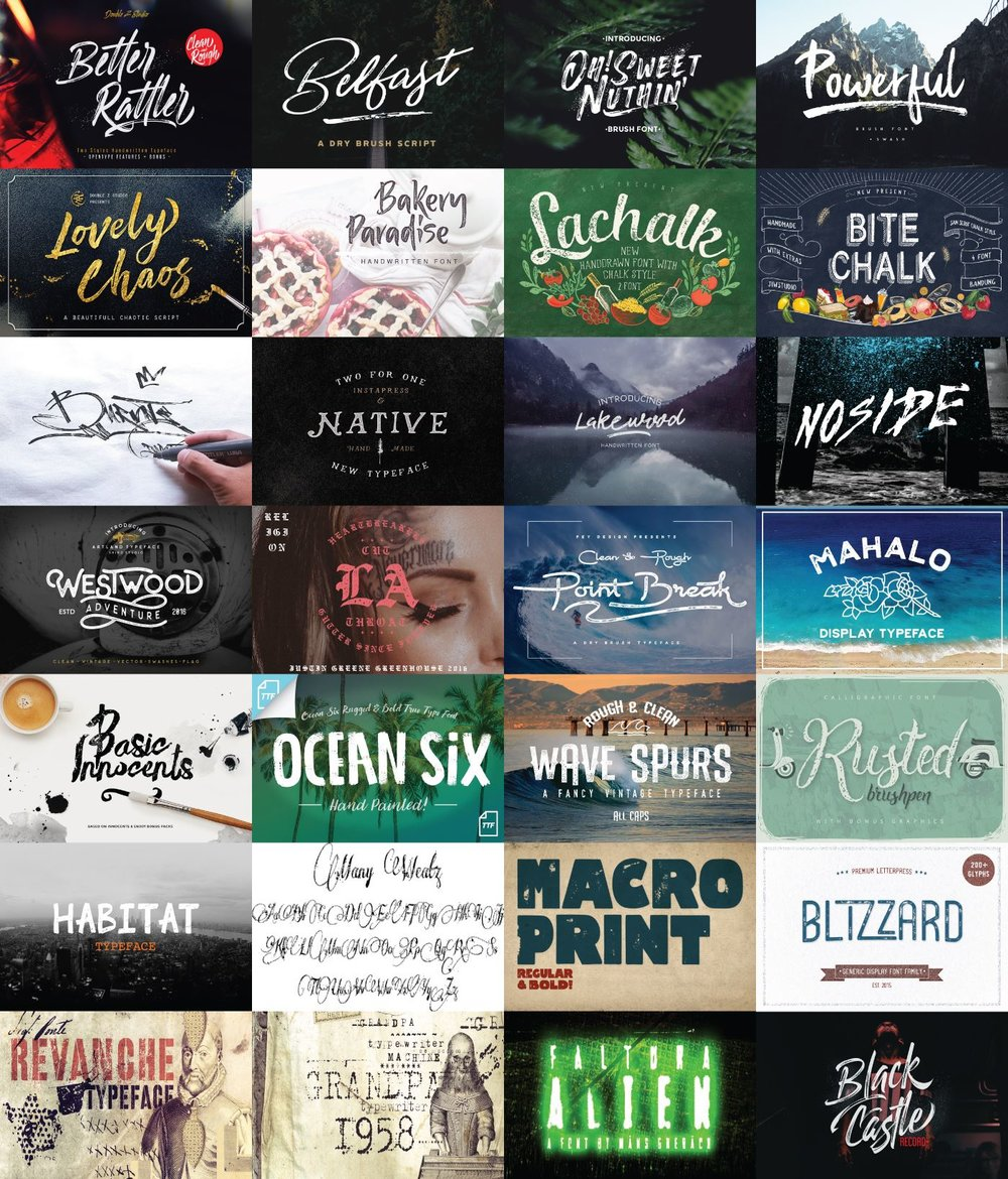 The Textured Font Bundle Preview