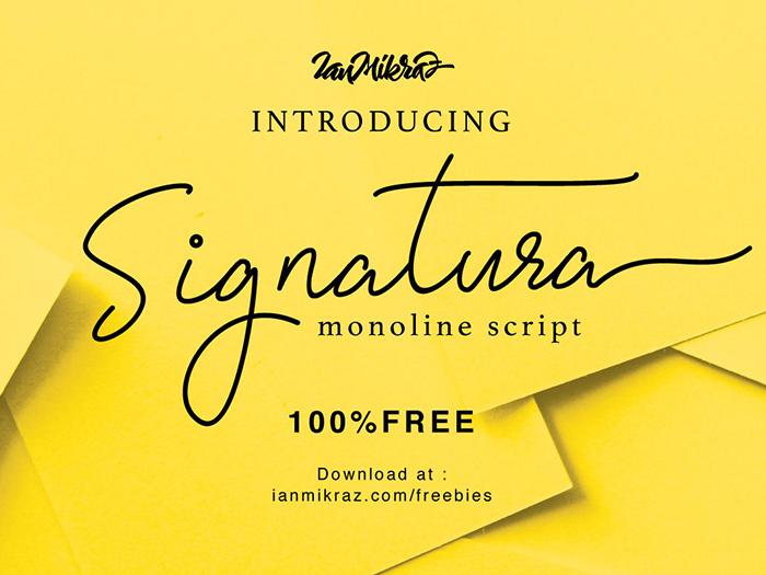 Signatura Monoline Script