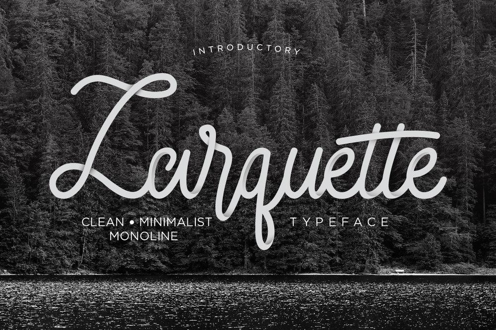 Larquette Monoline Script Typeface