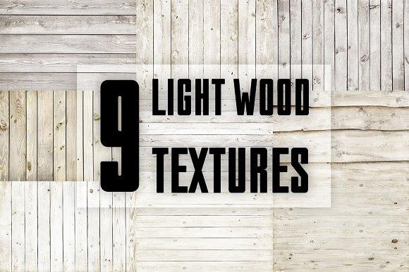 9 LIGHT WOOD TEXTURES