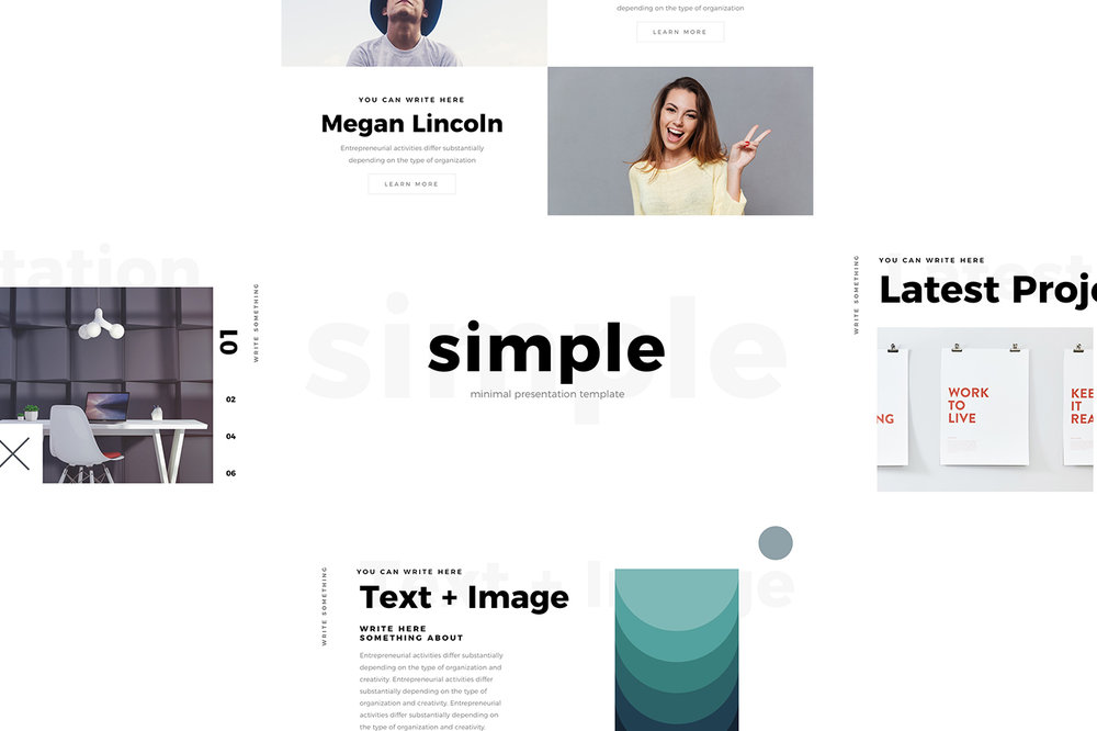 Simple Minimal Keynote Template  Pixel Surplus  Resources For