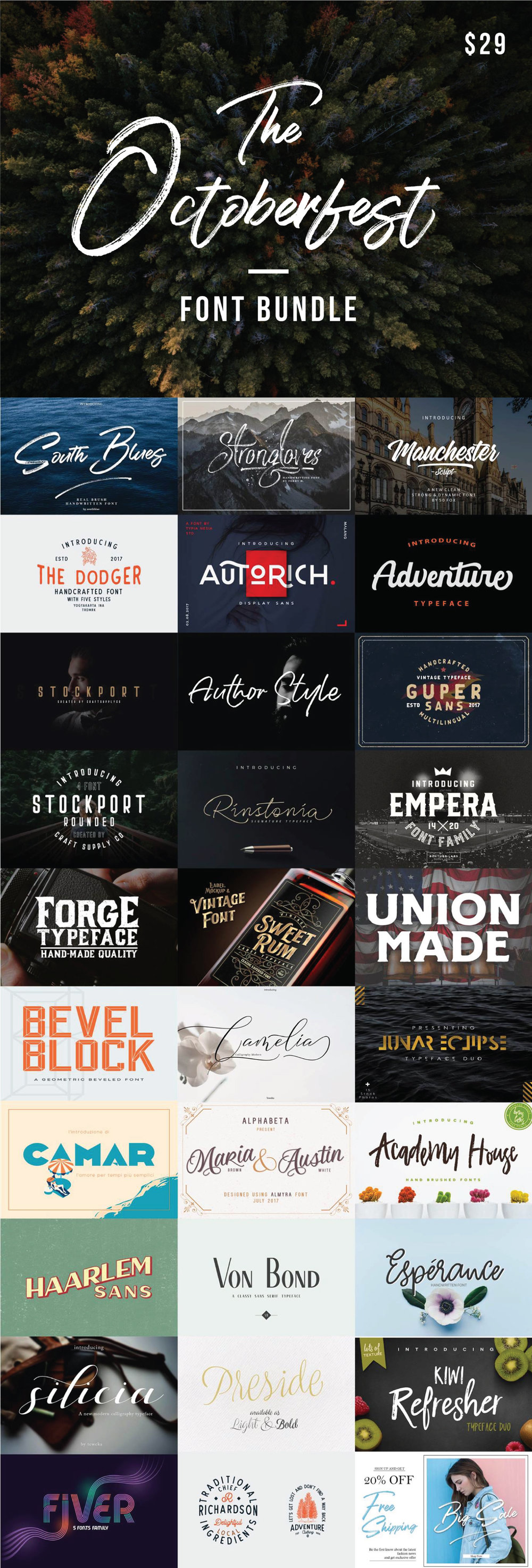 Octoberfest-font-bundle