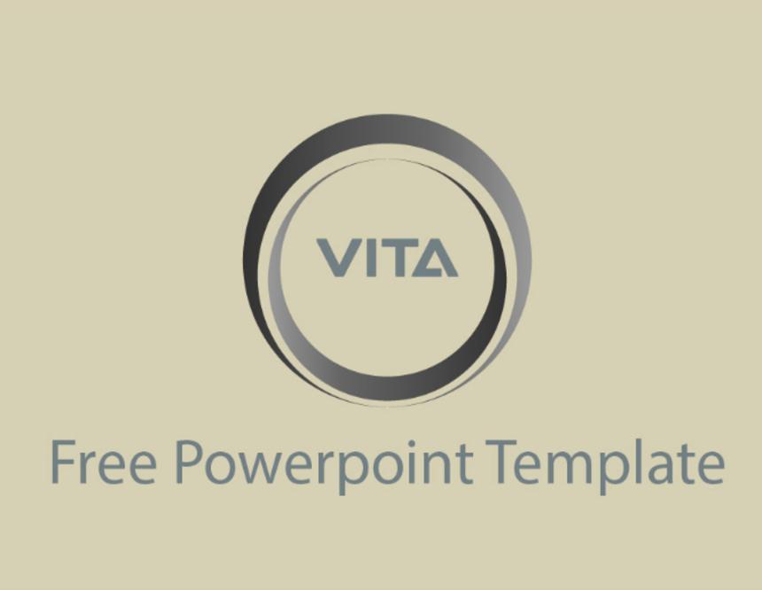 vita free business powerpoint template pixel surplus resources